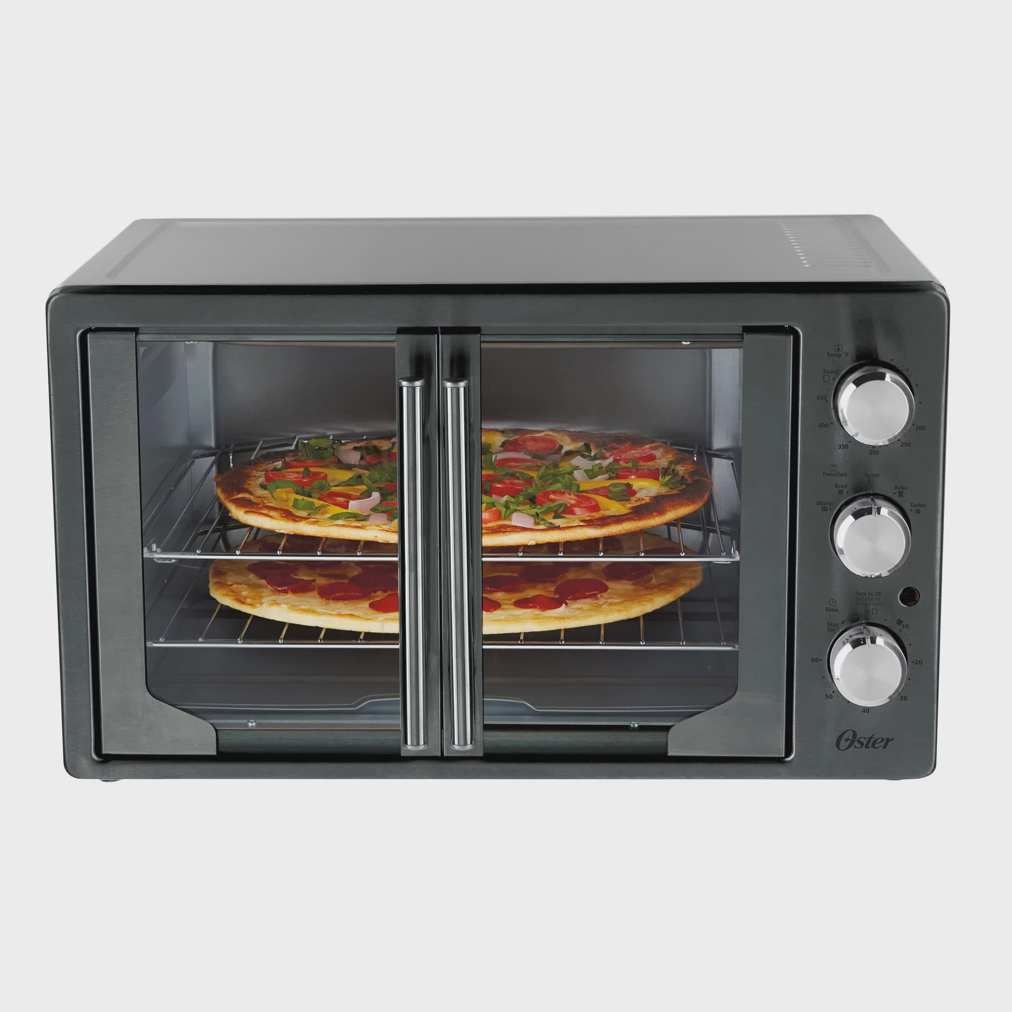 Oster Digital Metallic Amp Charcoal French Door Oven With