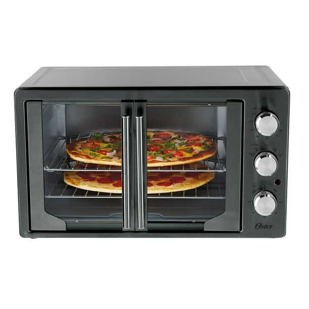 Oster French Door Convection Toaster Oven, Metallic & Charcoal