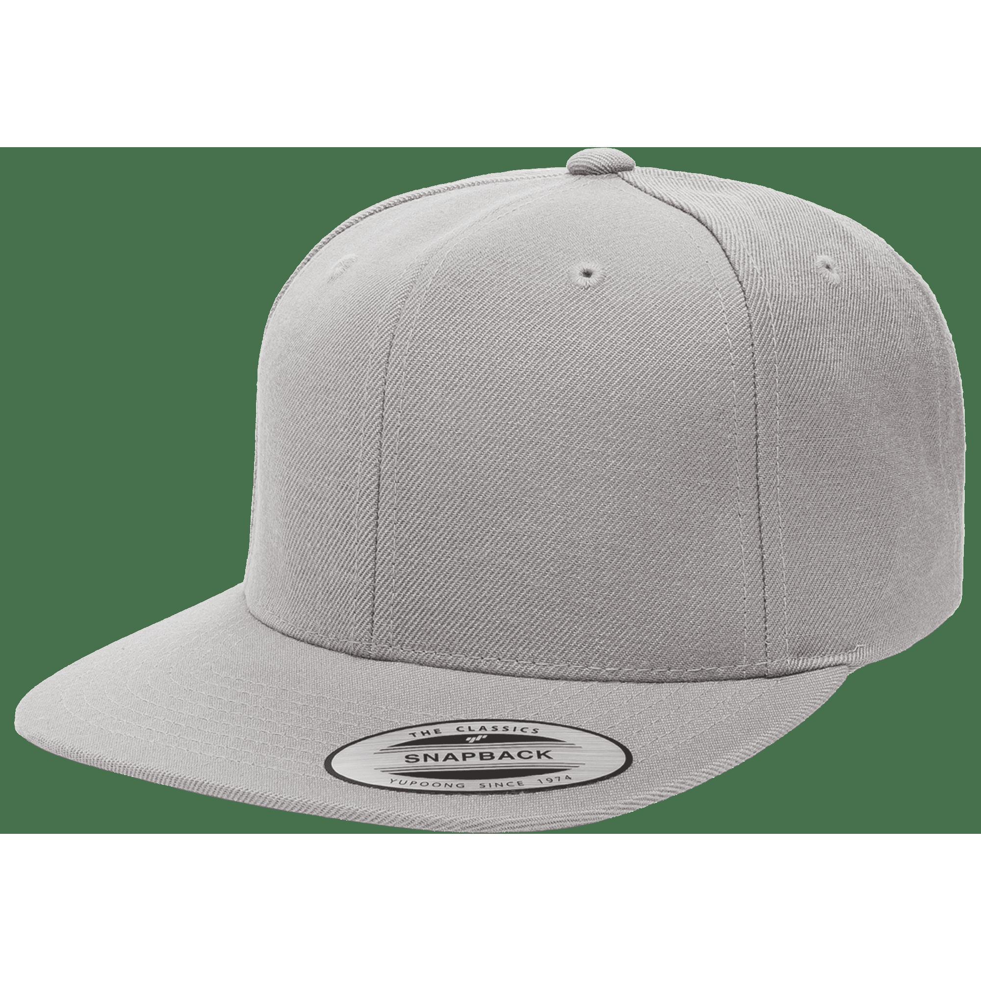 dc6738ac592ca Flexfit 6089M Heather Grey Premium Classic Snapback Hat
