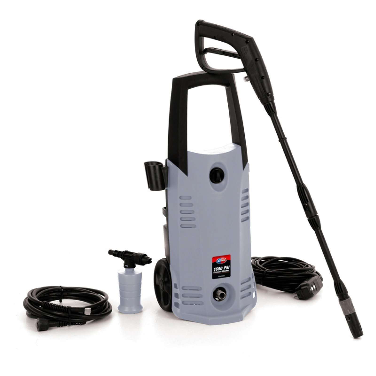 All Power 1600 PSI 1.6 GPM Electric Pressure Washer With Hose Reel for House, Garage, Vehicle and Outdoor Cleaning, APW5005