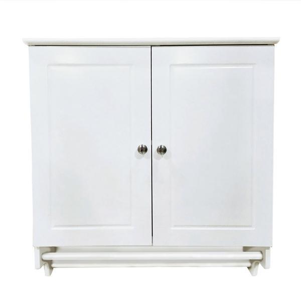 Yaheetech Wall Mounted Cabinet Kitchen/Bathroom Wooden Medicine Hanging  Storage Organizer