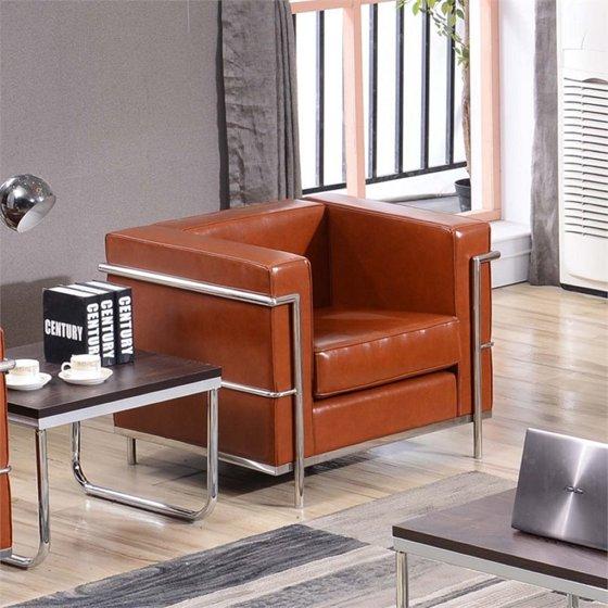 Surprising Flash Furniture Hercules Regal Series Contemporary Cognac Leather Chair With Encasing Frame Base Upc 0084725401841 Creativecarmelina Interior Chair Design Creativecarmelinacom