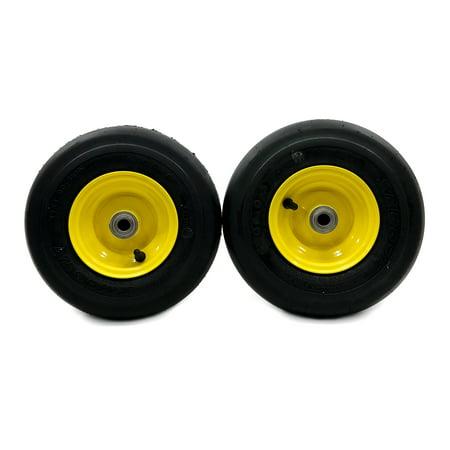(2) John Deere Pneumatic Tire Assemblies 11x4 00-5 Fits Z235E Z255E Z335E  Z355E