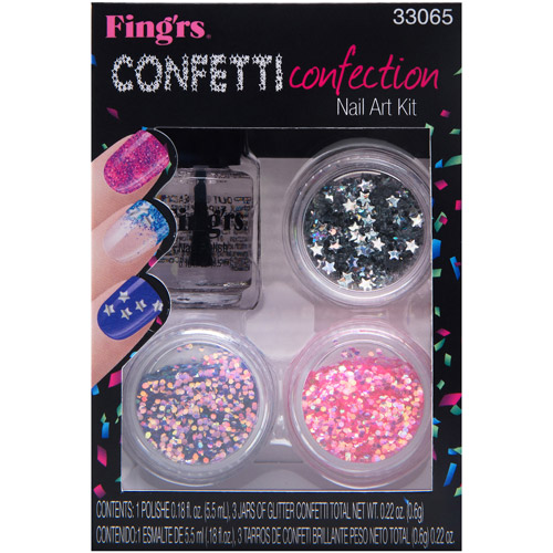 Fingrs Heart 2-Art Nail Kits - Confetti Connection, Pack Of 2