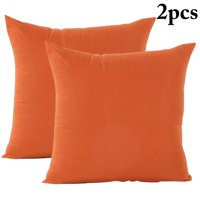 Pack of 2 Decorative Solid Color Throw Pillow Simple Square Covers Cushion Case Indoor Living Room Outdoor Garden Shell Pillow Case for Car Sofa Bed Couch