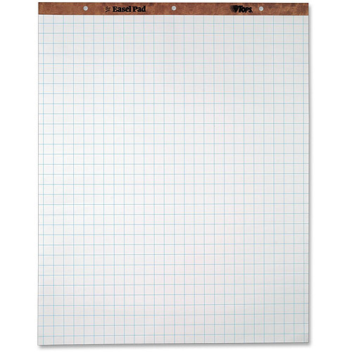 Tops  Grid Square Ruled Easel Pads  WalmartCom