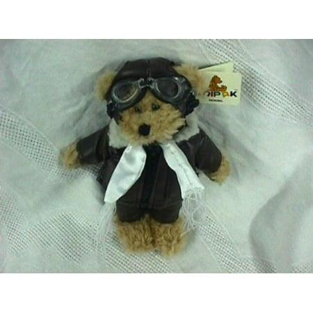 Aviator Bear - Teddy Bear Pilot (Aviator) Plush Toy, Nicely Detailed By Unipak