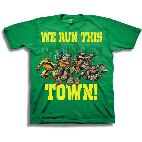 """We Run This Town"" Boys Short Sleeve Graphic Tee"