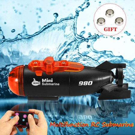 Remote Control Mini RC Submarine Ship Micro Radio Boat LED Light Toy Gift US