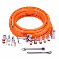 """WYNNsky 3/8"""" × 25ft PVC Air Compressor Hose with 17 Piece Air Tool and Accessory Kit"""