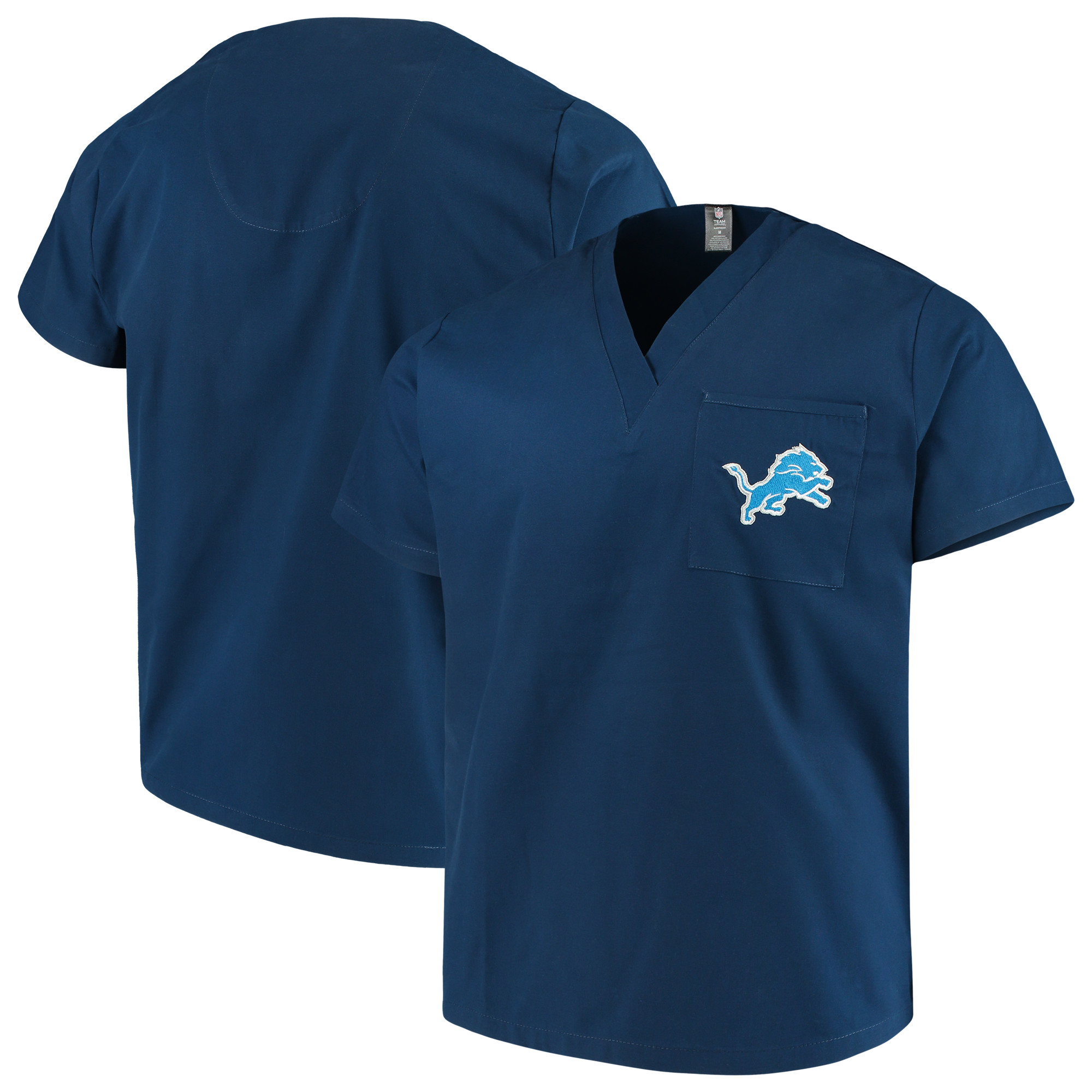 Detroit Lions Concepts Sport Scrub Top - Royal