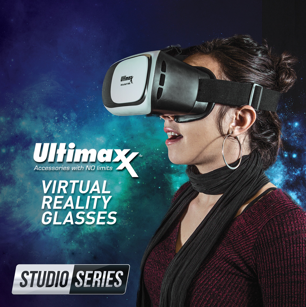 Ultimaxx 3D VR Glasses Virtual Reality Headset Lightweight Portable 4-6.3 Inch