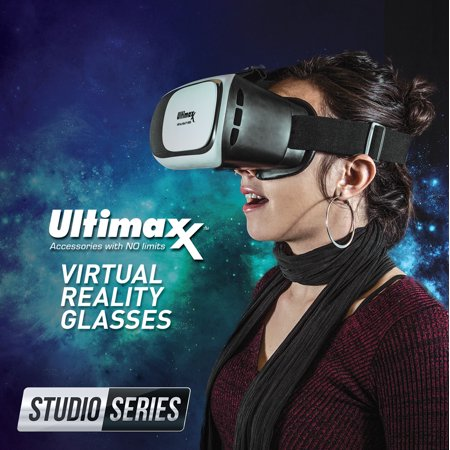 Ultimaxx 3D VR Glasses Virtual Reality Headset Lightweight Portable 4-6.3