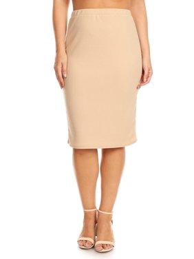 3d011397eff63 Product Image Plus size Women s Trendy Style Solid Pencil Skirt. Product  Variants Selector. BEIGE AQUA BLACK