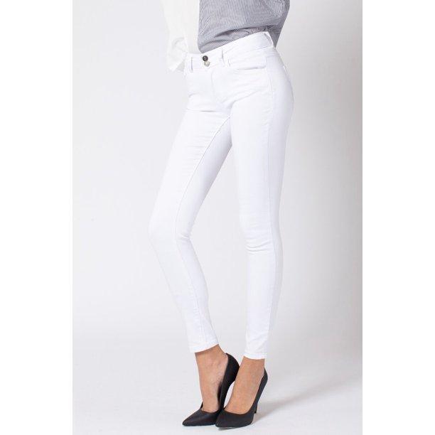 Kancan Kan Can Women S Mid Rise Ankle Skinny Jeans Basic Kc7097 Walmart Com Walmart Com