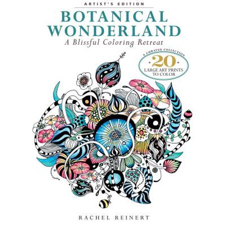 Botanical Wonderland : A Blissful Coloring Retreat: A Curated Collection - 20 Large Art Prints to Color - Spring Coloring