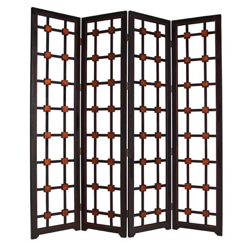 Screen Gems 84'' x 84'' Metropolitan 4 Panel Room Divider