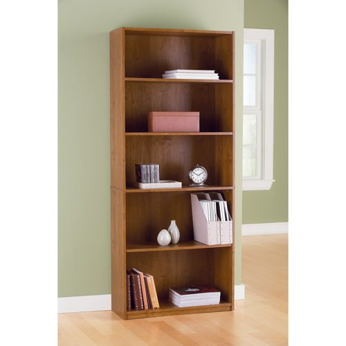 Mylex 5 Shelf Bookcase Oak Finish 71