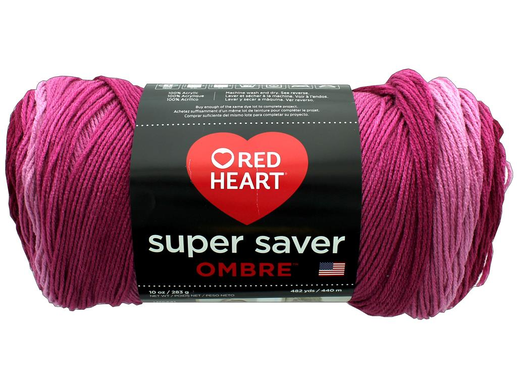 Coats Yarn Acrylic Blend Red Heart Super Saver Yarn-Bonbon BONBON PRINT