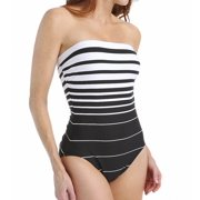 Miraclesuit 362542 Right Down the Line Bandeau One Piece Swimsuit
