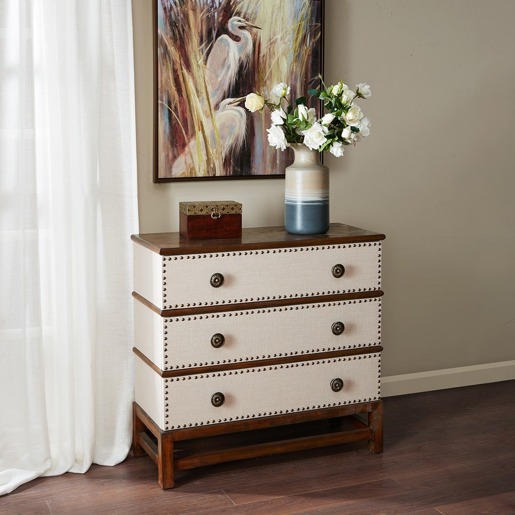 Madison Park  Larkspur Linen 3-Drawer Chest