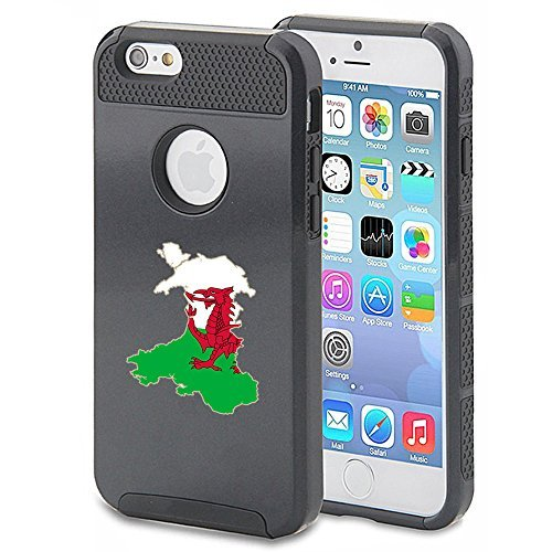 Apple iPhone 5c Shockproof Impact Hard Case Cover Wales Welsh Flag (Black ),MIP