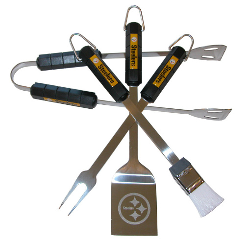 Siskiyou Sports Pittsburgh Steelers 4 Piece Bbq Set Barbeque Set by Siskiyou Sports