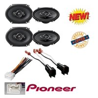 """4 x PIONEER TS-A6886R 5 x 7""""/ 6 x 8"""" 4-WAY COAXIAL SPEAKERS + FORD AFTERMARKET WIRE HARNESS STEREO + (70-1771) Metra 72-5600 Speaker Harness Connectors for Select Ford Chevy Linc"""