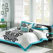 Mizone Florentine 3 Piece Comforter Set, Teal, Twin/Twin X-Large