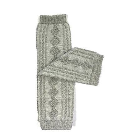 ALLYDREW Solid Baby Leg Warmer & Solid Toddler Leg Warmer for Boys & Girls, Cable Knit Gray Cable Knit Leg Warmers