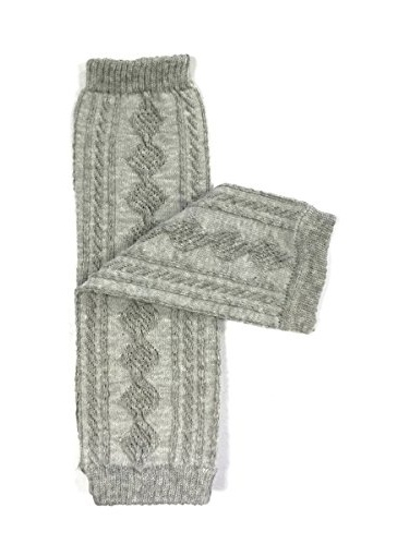 ALLYDREW Solid Baby Leg Warmer & Solid Toddler Leg Warmer for Boys & Girls, Cable Knit Gray