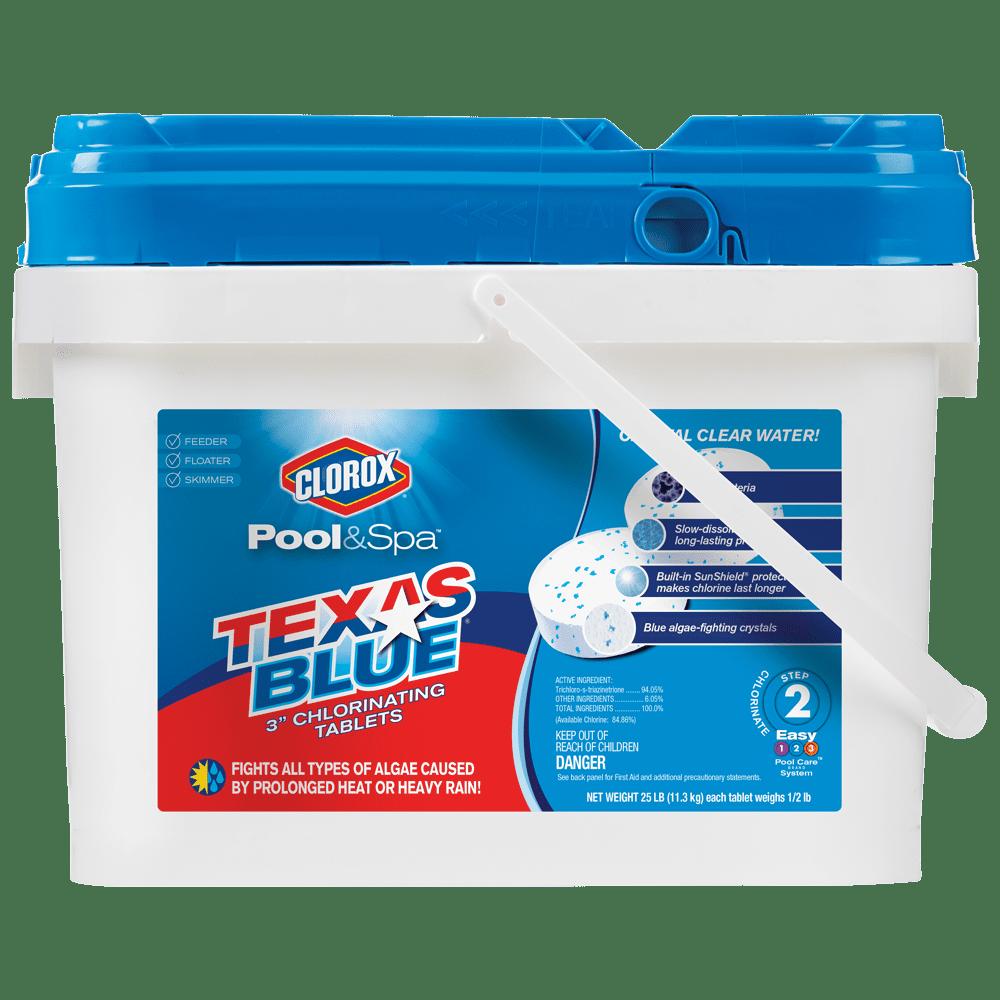 "Clorox Pool&Spa Texas Blue 3"" Chlorinating Tablets, 25lb"