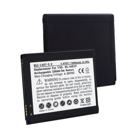 LG LS997 Cell Phone Battery (Li-Ion 3.8V 3200mAh) Rechargeable Battery - replacement for LG BL-44E1F Battery