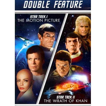STAR TREK 1-MOTION PICTURE/STAR TREK 2-WRATH OF KHAN (DVD/DBLE FEAT/2DISCS)