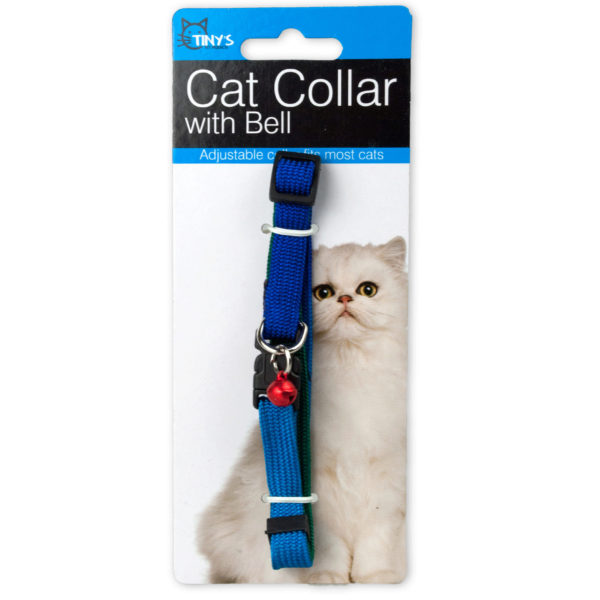Bulk Buys Multi-Color Cat Collar with Bell, 24 Count