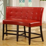 Bossa Counter Height Banquette - Red Leatherette