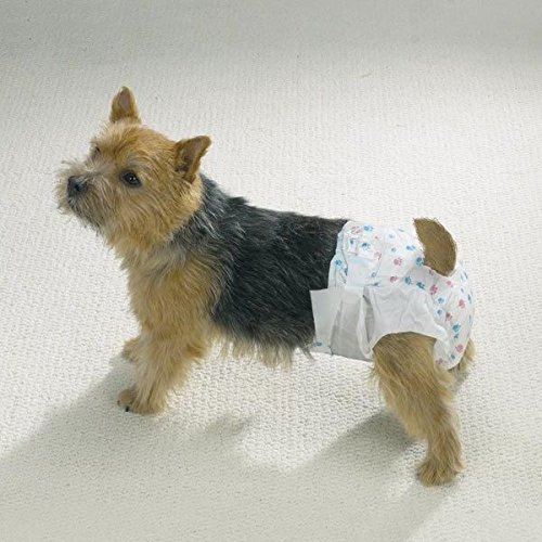 Dog Diaper Bulk Packs Disposable Doggie Diapers Helps Protect from Soiling !(Medium 20 Pack)