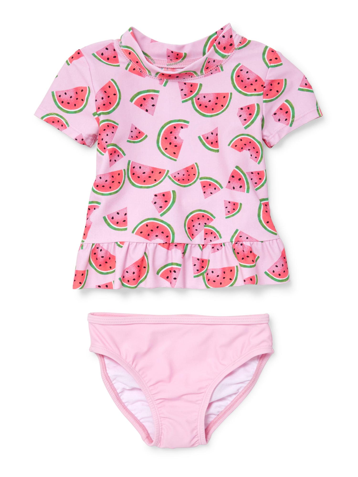 Watermelon Rashguard Set (Baby Girls & Toddler Girls)
