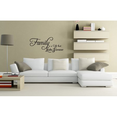 (Wall Decal Quote Sticker Vinyl Art Lettering Family Is A Gift Love Idea Wall Quotes J271)