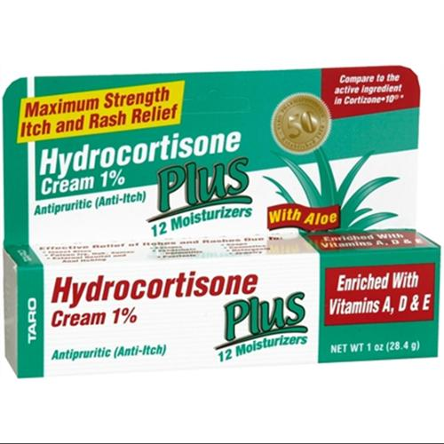 Taro Hydrocortisone Cream 1% 1 oz (Pack of 2)