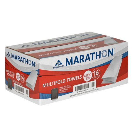 Marathon Multifold Paper Towels, 16 Packs (4000