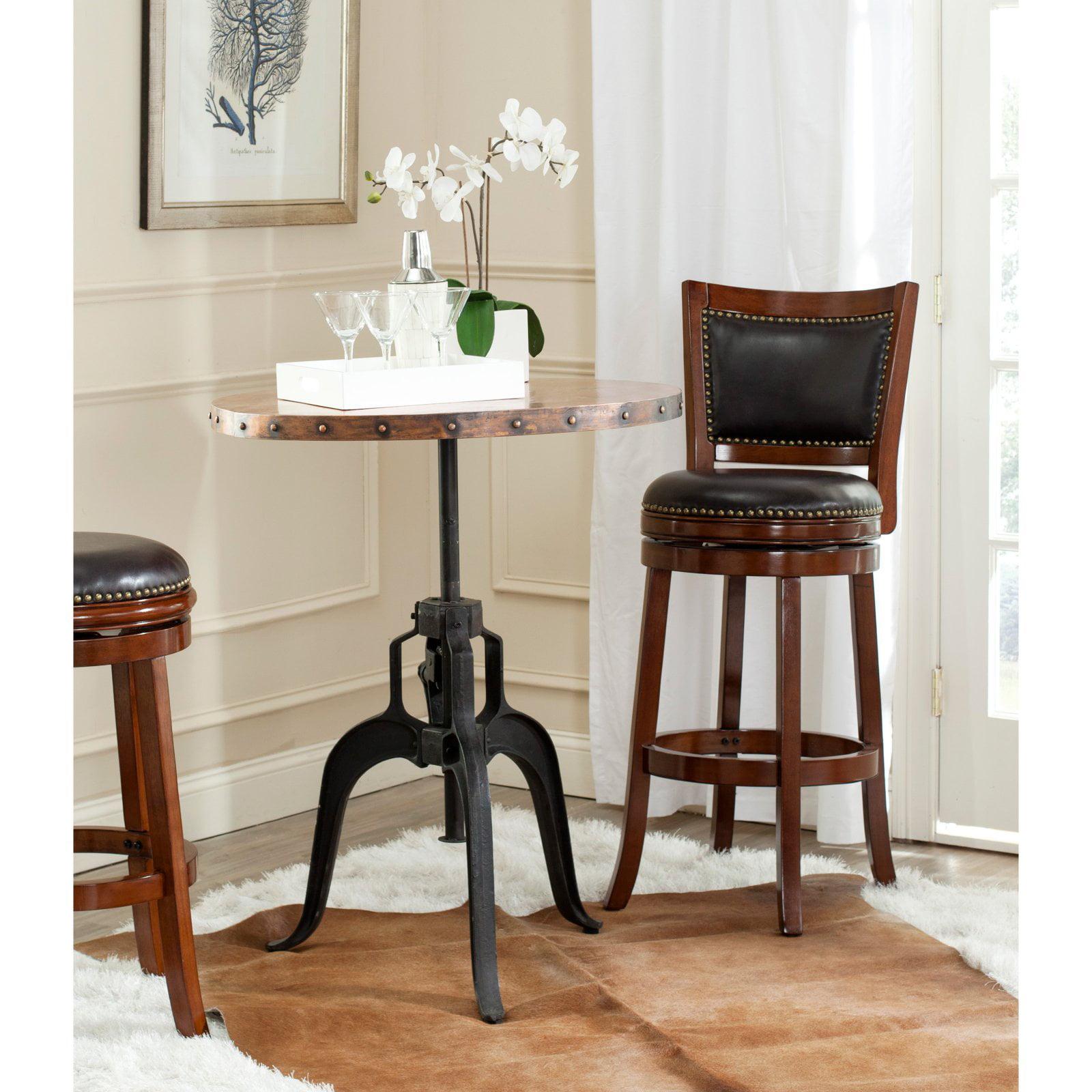 Safavieh Nesta Crank Table, Black and Copper Top