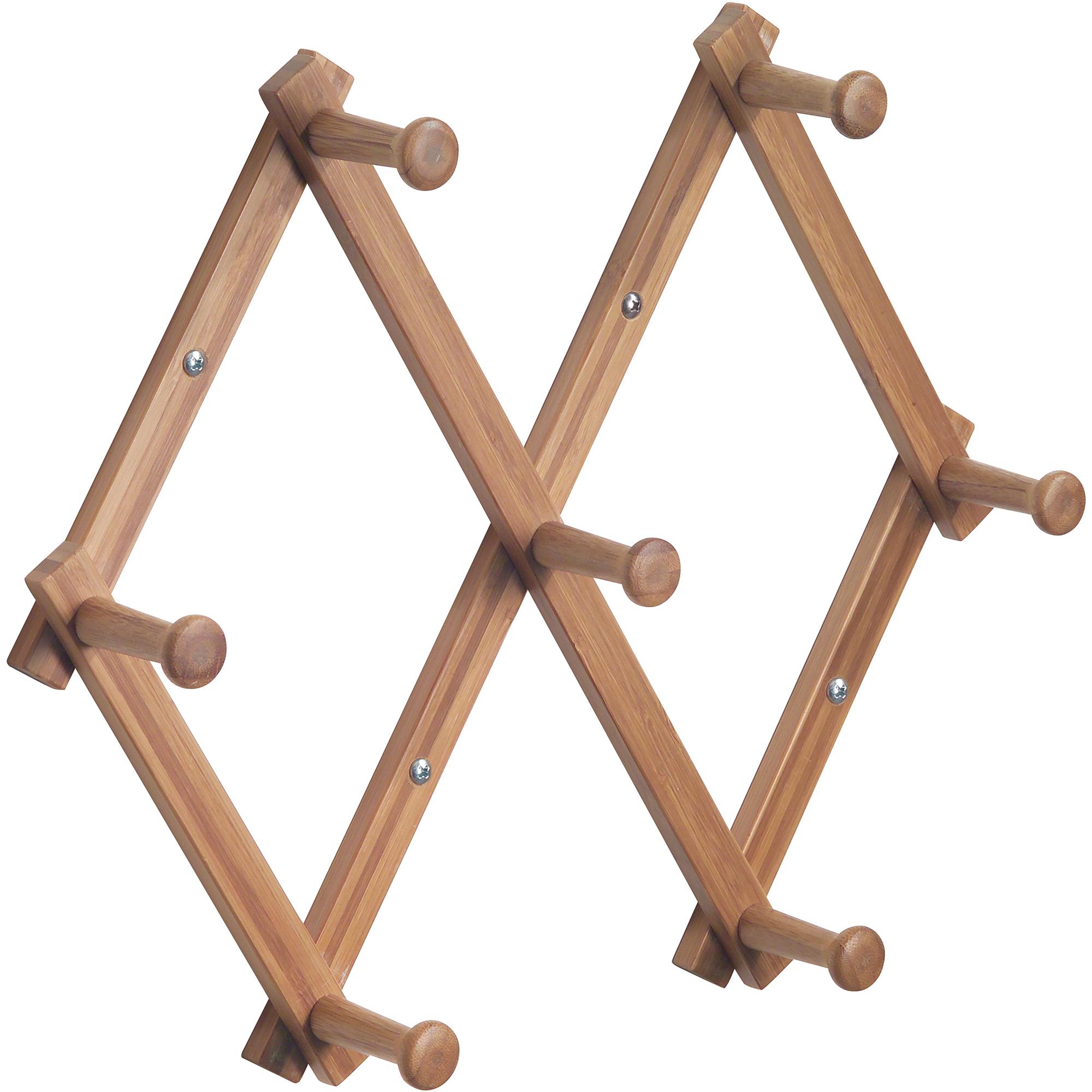 Mainstays Wood Expandable Rack, Bamboo