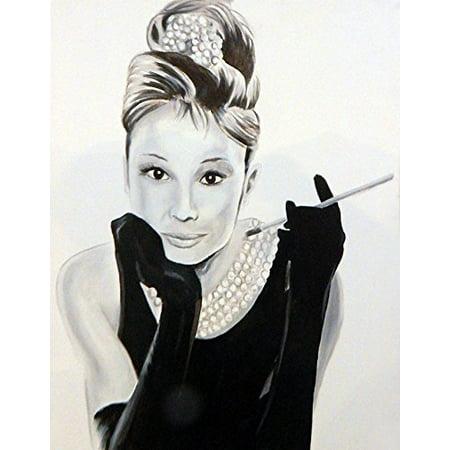 Audrey Hepburn by Ed Capeau 16x12 Art Print Poster   Breakfast At Tiffanys POD - Breakfast At Tiffanys Costume