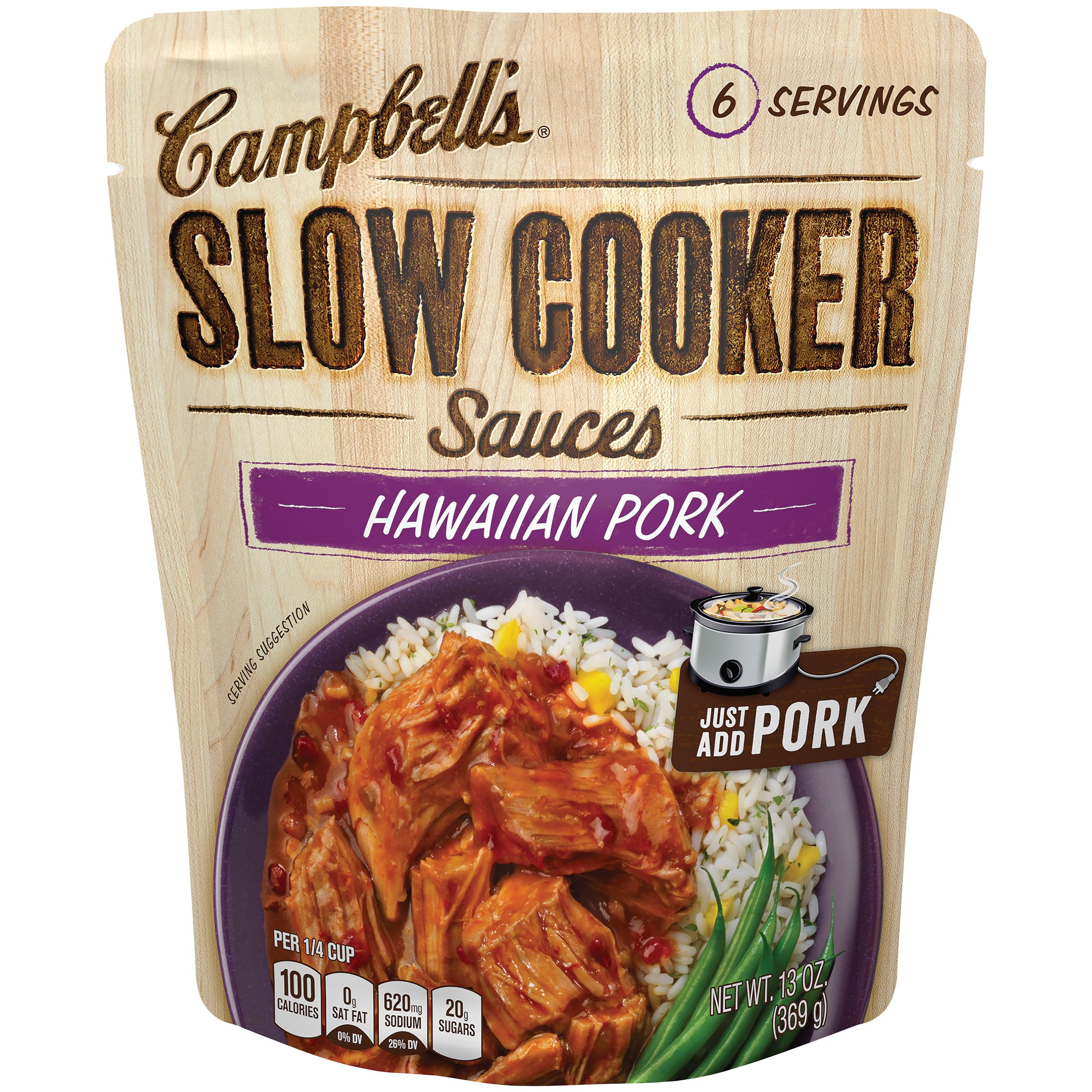 Campbell's Slow Cooker Sauces, Hawaiian Pork, 13 Oz