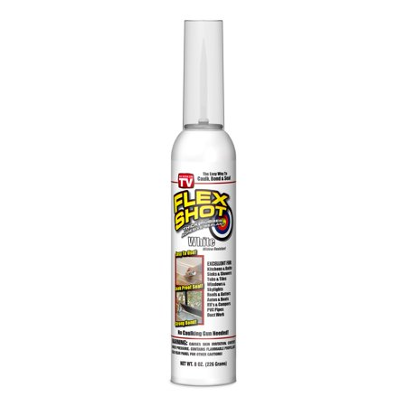 Flex Shot Rubber Adhesive Sealant Caulk, 8-oz, (Best Thread Sealant For Water Pipe)