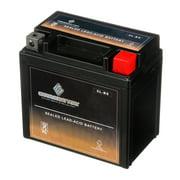 Chrome Battery YTX5L-BS (5L-BS 12 Volt,4 Ah, 65 CCA) Atv Battery for Suzuki 80cc Lt80 Quadsport 80 1993