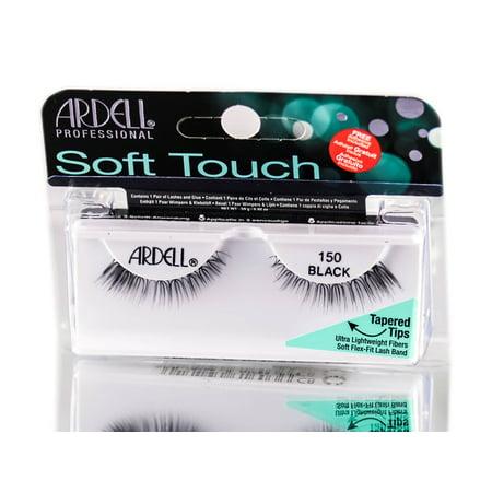 dd240cc5f0b Ardell Soft Touch Tapered Tip Lashes - 150 Black - Walmart.com
