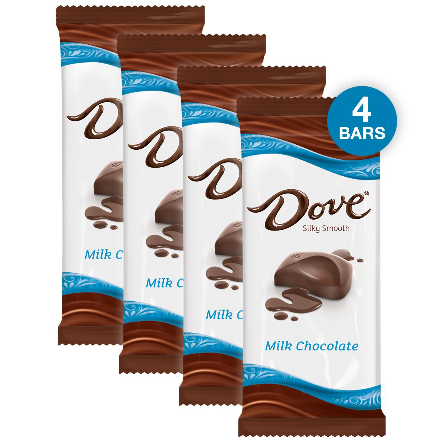 (4 pack) Dove Milk Chocolate Candy Bar, 3.30 Oz