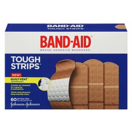 Strip Badges - BAND-AID Brand Adhesive Bandages Tough Strip 60 ea (Pack of 2)